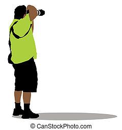 stående, fotograf