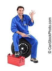 stående, mekaniker