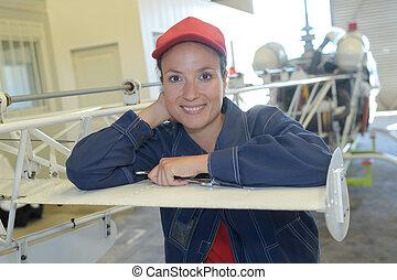 stål arbetare, kvinnlig