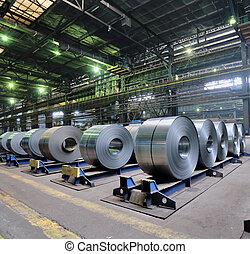 stål, ark, rolls