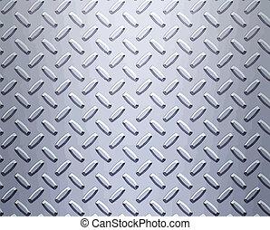stål, diamant plade