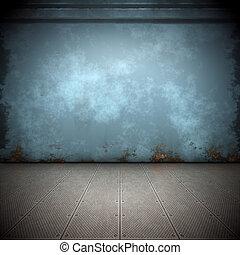 stål, gulv