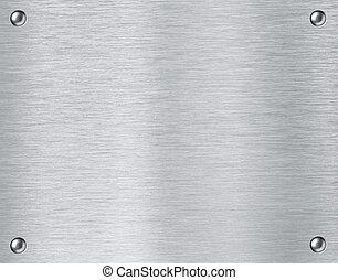 stål, metall, strukturerad, tallrik, bakgrund