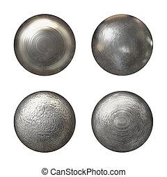 stål, nit, huvuden, kollektion