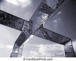 stål, nymodig arkitektur