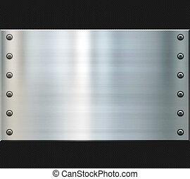 stål, og, aftrykket, fiber, baggrund