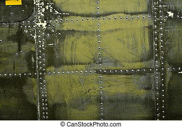 stål, panel