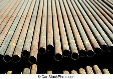 stål, pipe.