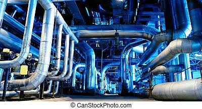 stål, pipeliner, och, ventilen