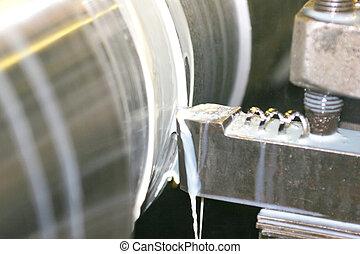stål, rostfri, svarv, vändning