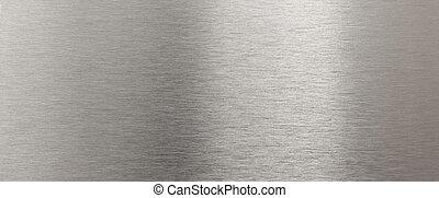 stål, rustfrie, tekstur, lysende