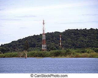 står hög, telekommunikation
