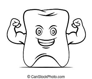 stærke, tand, mascot