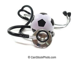 stéthoscope, à, football