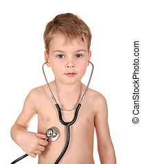stéthoscope, enfant