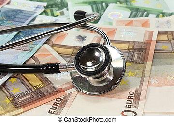 stéthoscope, et, argent
