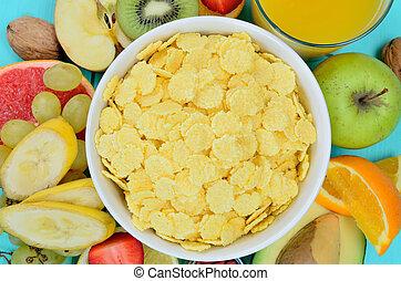 stół, cornflake