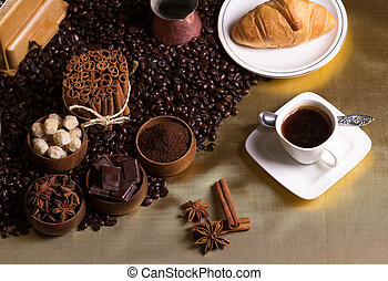 stół, kawa