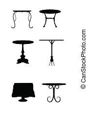 stół, komplet