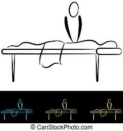 stół, masaż