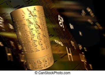 stół, symbol, okresowy, atomowy, element