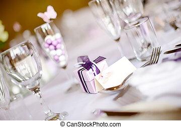 stół umieszczenie, ślub