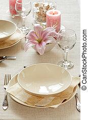 stół umieszczenie, delikatny