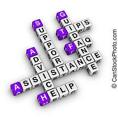 stöd, hjälp