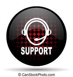 stöd, nät, glatt, ikon, röd