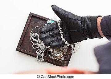 stöld, jewelery