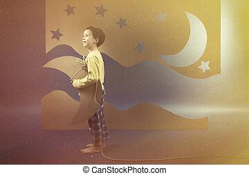 stöld, månen