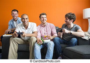 stötarna, spelande video vilt