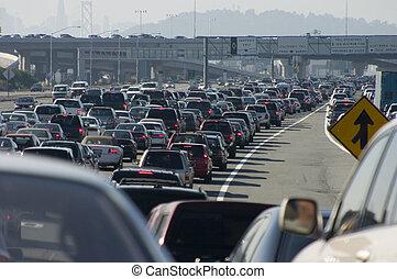 større, trafik jam, 2