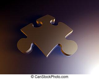 stück, metall, puzzel