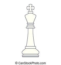 stück, schach, karikatur