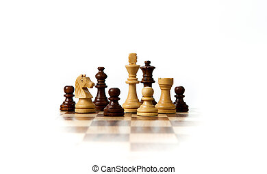 stücke, brett, schach