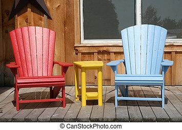 stühle, rasen