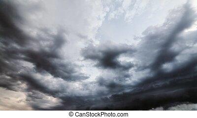 stürmen wolken, bewegen, schnell