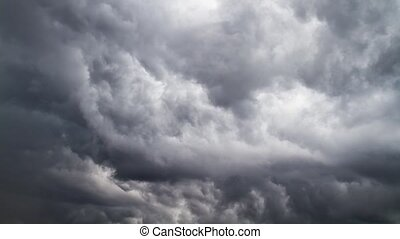 stürmen wolken, zeit-versehen