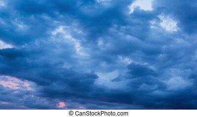 stürmen wolken, zeit- versehen