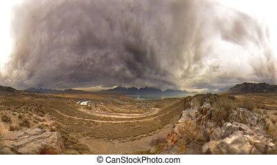 stürmisch, landschaftsbild, zwei