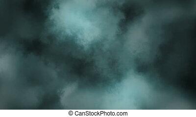 stürmisches wetter, in, wolkenhimmel