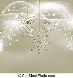 stříbrný, plíčky, vánoce, grafické pozadí, s, zlatý hřeb