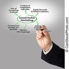 střední jakost, společenský, marketing