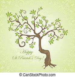 st., árvore, patrick's, dia