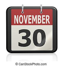 st. アンドリュー, 日, s, 30, 11 月, カレンダー