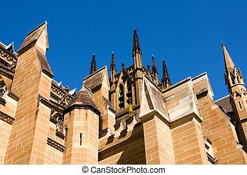st., シドニー, オーストラリア, 大聖堂, メアリーの