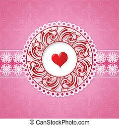 st., デザイン, グリーティングカード, バレンタイン