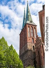 st. 。, ドイツ, ベルリン, 大聖堂, ニコラス, 元通りにされる
