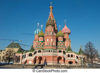 st. ベズルのカテドラル, モスクワ, ロシア, square.
